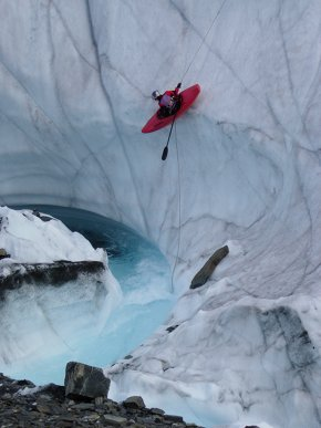 Kayaking a glacier