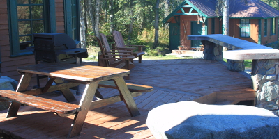 Mountain House outside deck